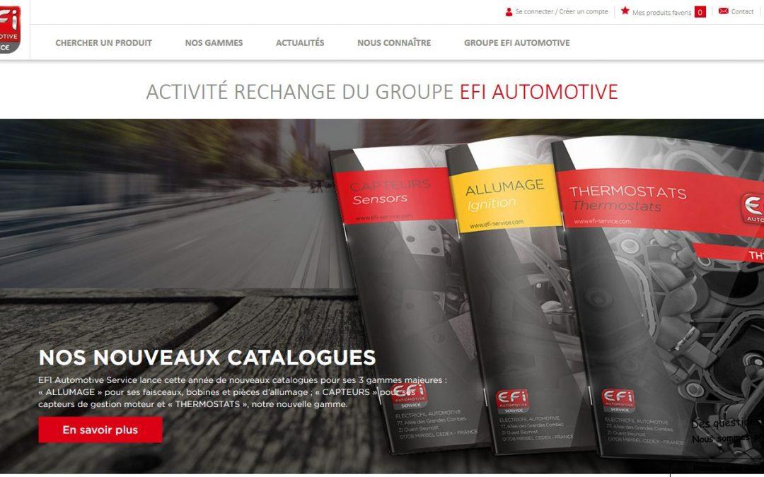 Après la mise en place de leur base de données produits, 3C-EVOLUTION réalise le e-catalogue de EFI Automotive Service